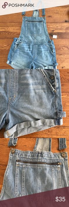 Abercrombie & Fitch Overalls Women's Abercrombie & Fitch Overalls (Shorts) . These overalls have a front zip pocket and folded bottoms. These are brand new with tags still attached. Abercrombie & Fitch Shorts Jean Shorts