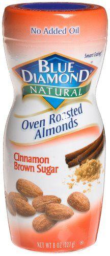 Blue Diamond Almonds Cinnamon Brown Sugar, 8-Ounce Jars (Pack of 6)