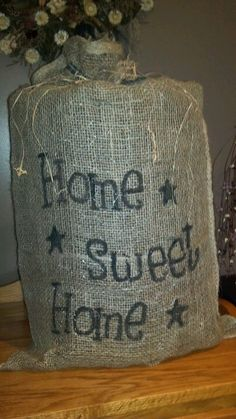 My burlap bag that lights up