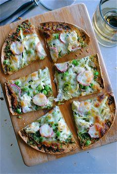 spring #vegetable flatbread #pizza