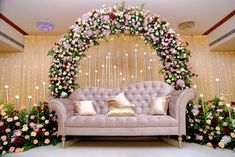 Engagement Stage Decoration, Wedding Hall Decorations, Desi Wedding Decor, Luxury Wedding Decor, Party Decoration, Backdrop Decorations, Marriage Hall Decoration, Simple Stage Decorations, Reception Stage Decor
