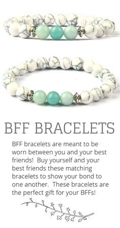 c99da1210db3 BFF Bracelets. Best Friend Bracelets. Friendship Bracelets. Gift Ideas for  best friend.