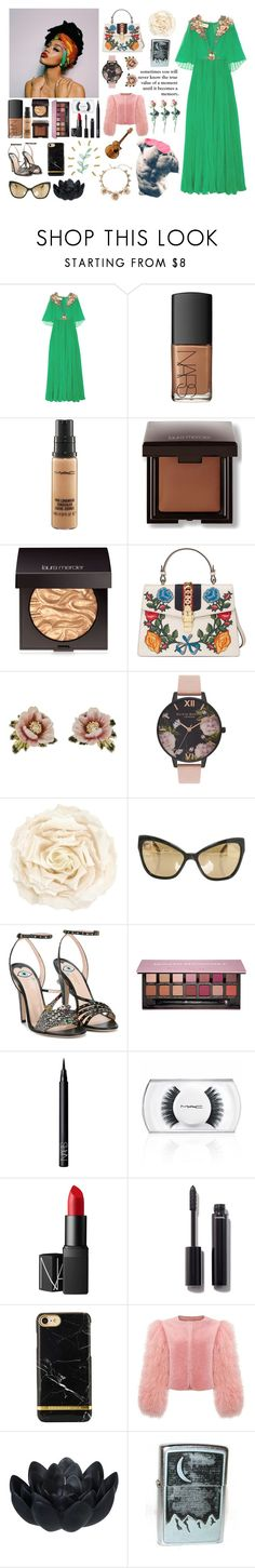 """Flowers can be strong"" by michealisaunic0rn on Polyvore featuring Gucci, NARS Cosmetics, MAC Cosmetics, Laura Mercier, Les Néréides, Olivia Burton, Chanel, Anastasia Beverly Hills, xO Design and Sia"