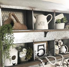 What Is Rae Dunn by The Freckled Farmhouse with a chicken nesting box Chicken Boxes, Chicken Nesting Boxes, Metal Chicken, Chicken Runs, Rustic Kitchen Design, Kitchen Decor, Decorating Kitchen, Open Kitchens, Bar Kitchen