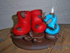 Topo de bolo #galochas para #festainfantil personalizada no tema #peppapig