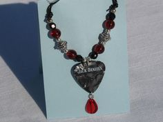 Handmade+Jack+Daniels+Guitar+Pick+Necklace+by+SouthernGirlGifts,+$15.99