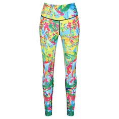 Psychedelic Leggings Sports Leggings, Stretch Fabric, Psychedelic, Sport Outfits, Pajama Pants, Prints, Clothing, Stuff To Buy, Color