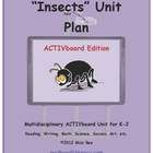 THIS UNIT PLAN IS DESIGNED FOR ACTIVboards, USING ACTIVinspire V1.6.    This 43-page Insects Math and Literacy Thematic Unit Plan is great for learni...