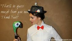 {Mary Poppins and Bert costumes} Chimney Sweep Broom and Parrot Umbrella Props -- MAKE IT! with mal: DIY::