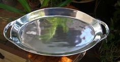 "Silver Plated Large 21"" Heavy Serving Platter with Handles $35.  You don't need all your dishes to be 'Egyptian'.  A silver serving platter and some key decorations will set the proper tone on your buffet table. Halloween & The Secret of the Mummy's Tomb Party Ideas."