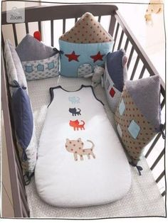 Идея для наших мастериц. Подушки-игрушки для детской кроватки