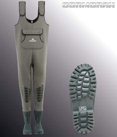 Cormoran Waders Néoprène, avec bottes en caoutchouc intégrées, Dim. 38/39