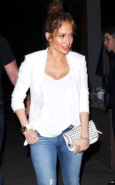 Jennifer Lopez!!! i love this look!! it's casual chic, which i love!! very stylish and i would rock it!!!