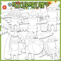 Beach Fun Santa Digital Stamps - $2.00 : NEW Clipart, Printables, Digital Scrapbooking, Digital Stamps, Card Making Kits, Teaching Resources, Resale Clip Art & Free Downloads!, NEW Clipart by Cheryl Seslar, Alice Smith, Trina Clark, Scrappin Doodles, Kristi W. Designs, AllClipART.info & more!