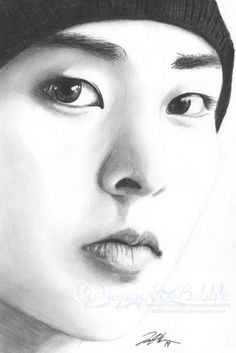 Charcoal and Graphite on Mixed Media Paper sittin back and enjoying this one. Yay Chanyeol, thank you for not being stubborn! Chanyeol, Exo Kai, Kpop Fanart, Witchy Wallpaper, Exo Fan Art, Kpop Drawings, Kpop Exo, Bts And Exo, Drawing People