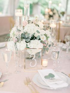 2019 Wedding Trends 100 Greenery Wedding Decor Ideas is part of Greenery wedding centerpieces - tps header]Pantone 2017 color of the year greenery a shade between green and yellow, rather bold and light, zesty and almost neon Greenery is Wedding Table Centerpieces, Wedding Table Settings, Centerpiece Ideas, Blush Centerpiece, Wedding Table Flowers, Table Numbers For Wedding, Blue Hydrangea Centerpieces, Flower Centrepieces, Elegant Table Settings