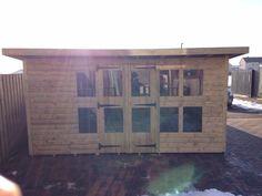 garden shed summerhouse tanalised super heavy duty 14x8 13mm tg 3x2