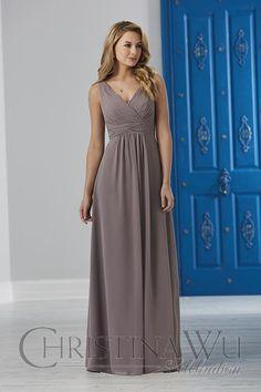 House Of Wu Style BM40 / BLACK size 14 / BLACK size 22 / WATERDANCE size 18 / BLUSH BOUQUET size 22 $160-$220 #HouseOfWu #ChristinaWu #Celebrations #Bridesmaid #BridesmaidDress #BridesmaidStyles #BridesmaidFashion #Chiffon #ChiffonDress #WeddingParty #BridalParty