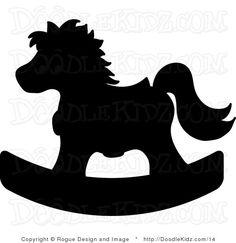 rocking horse clipart image child s toy rocking horse silhouette rh pinterest com baby rocking horse clip art free pink rocking horse clip art