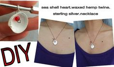 DIY sea shell necklace.