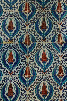 The Tiles of Rustem Pasha Mosque / Istanbul,Turkey
