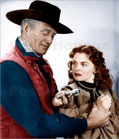 RED RIVER (1948) - John Wayne - Montgomery Clift - Walter Brennan - Joanne Dru - John Ireland - Harry Carey Jr. - Produced & Directed by Howard Hawks - United Artists.