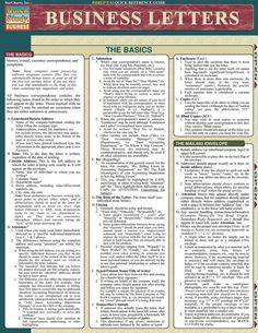 This guide is filled with helpful hints that outline the basic concepts of memos, e-mails, complaints and customer correspondence. This 6-page guide also includes: basics in formatting, informational letters, requests for information letters, letters of recommendation, cover letters, letters of comp