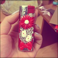 DIY lighter #red cute idea for gift
