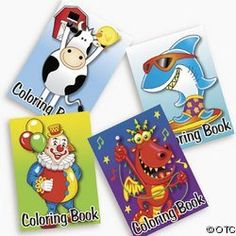 "72-pack of Kid's Coloring Books ~ Great Party Favors! by OTC. $14.99. 5"" x 7"" each. 6 dozen per unit. 4 Designs/Assorted. N/A. 6 pgs per book. Encourage the artistic spirit! These coloring books are compact so you can carry them anywhere! Surprise your little ones by slipping one of these fun books into their book bag before they head out to school. Great for goody bags at birthday parties too! (6 dozen per unit) 5"" x 7"". 6 pgs per book. 4 Designs/Assorted."