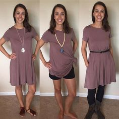 Our exclusive abby + anna bamboo dress can be worn so many ways!