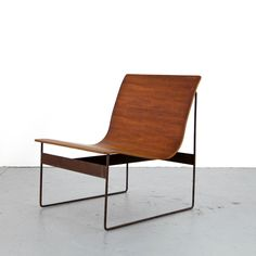 Mid Century Modern Plywood Lounge Chair 50s 60s | Danish Modern Teak Sessel / 1