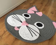 Artículos similares a Baby rug, decorative crochet rug en Etsy Chat Crochet, Crochet Mat, Crochet Rug Patterns, Crochet Carpet, Crochet Pillow, Crochet Home, Baby Knitting Patterns, Crochet Crafts, Crochet Projects