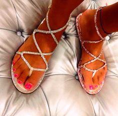 Rene Caovilla Swarovski crystal sandals SS15