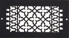 Atlanta Supply Cast Iron Floor/ Wall  Grille -Black- with Screwholes