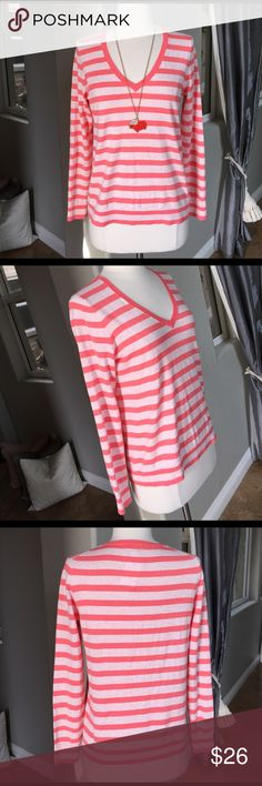 👚🌷😘J. Crew beautiful sweater ♥ NWT soft cotton stripes adorable sweater by J. Crew so comfy and cute on ❤️ J. Crew Sweaters V-Necks