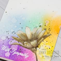 Hi Everyone It's time for a new Watercolor Challenge over at Happy Little Stampers – this time Anything Goes, with an optional twist – Rainbow! We have a guest designer joining u…