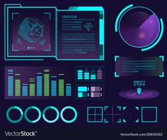 Futuristic interface space motion graphic vector image on VectorStock Cyber Technology, Futuristic Technology, Technology Design, Design Food, Game Ui Design, Design Design, Dashboard Interface, User Interface Design, Ui Ux