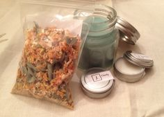 Clarity gift set:  sage and citrus tea, travel candle, pulse point aromatherapy and lip balm.