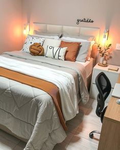 Room Design Bedroom, Room Ideas Bedroom, Small Room Bedroom, Dream Bedroom, Cute Home Decor, Home Design Decor, Dream Home Design, Indian Bedroom Decor, Bedroom Decor For Teen Girls