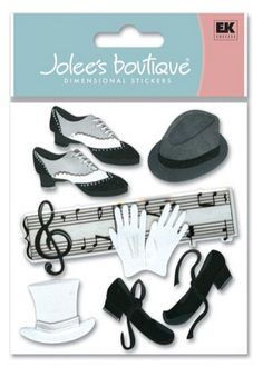 Jolee's Boutique Scrapbook Sticker Jazz and Tap Music Dance Shoes Gloves | eBay