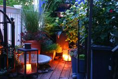 Small Patio Design some nice ideas, like the fence-screen behind the adirondac chairs to add privacy when close to neighbors Pergola Shade, Pergola Patio, Pergola Plans, Backyard, Big Garden, Summer Garden, Garden Plants, Outdoor Life, Outdoor Gardens