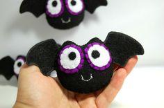 3 Mini Bat Plushies / Eco Friendly Handmade Stuffed Toy by vivikas, $24.00