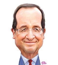 Francoise Hollande - Caricatura