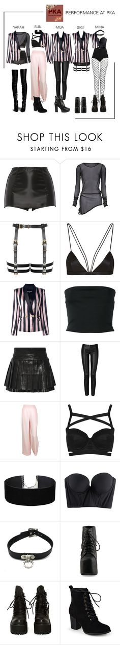"""ARIA (아리아) Perfoming at May Polyvore K-Pop Awards 2017"" by ariaofficial ❤ liked on Polyvore featuring Dolce&Gabbana, NYX, Balmain, Isabel Marant, Plein Sud, Chanel, Topshop, Miss Selfridge, Cosabella and Jeffrey Campbell"