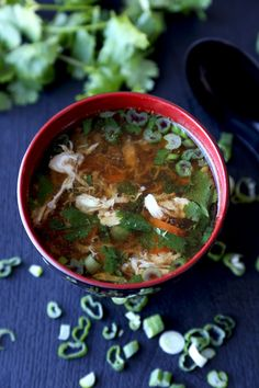 Warm up with a bowl of spicy egg-drop soup.