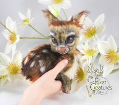 SAMPLE WORK  Teacup Fawn  Poseable Fantasy by RikerCreatures