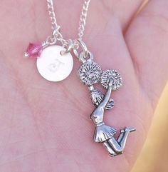Cheerleader Necklace Personalized Gift for by MadiesCharms on Etsy, $19.95