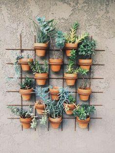 Vertical Garden Design, Vertical Gardens, Small Gardens, Outdoor Gardens, Vertical Planter, Outdoor Pots, Vertical Bar, Mini Gardens, Jardim Vertical Diy