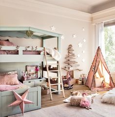 Dreamy girl's bedroom, all frothy pink. Kids Bedroom Ideas - Interior Design For Childrem
