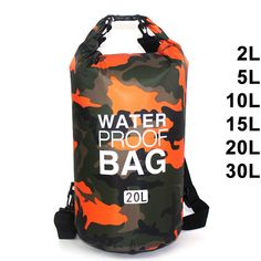f6d5e48677a3 Waterproof Swimming Bag Dry Sack Camouflage Colors Fishing Boating Kayaking  Storage Drifting Rafting Bag 2L 5L